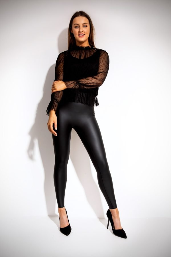 Ellon Leather Coat Leggings