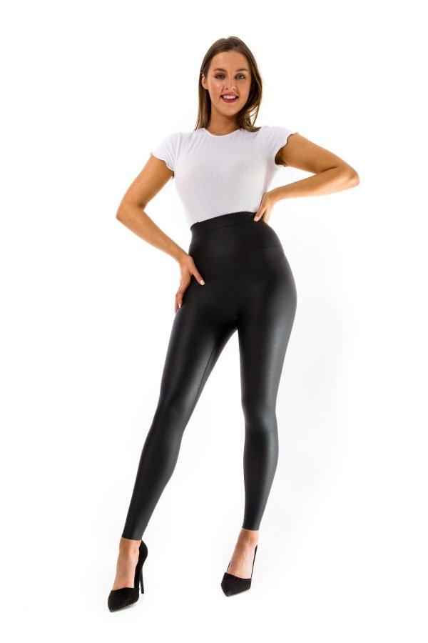 Ellon Leather Look Leggings