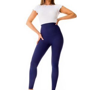 Katie French Navy Leggings