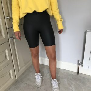 Una Leather Coated Shorts
